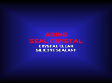 adino seal crystalcrystal clearsilicone sealant