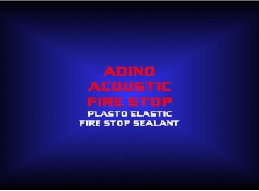 adino acoustic fire stopplasto elastic fire stop sealant