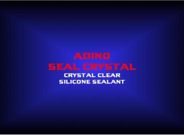 adino seal crystalcrystal clearsilicone sealant